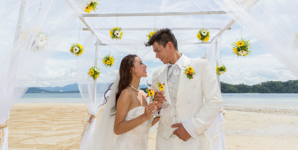 A Choice Of Two Private Beaches At The Resort Is Perfect Setting For Memorable Wedding Ceremony Serenaded By Rustling Trees In Sea Breeze